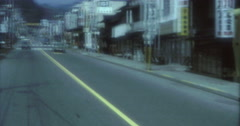Kegon Japan 70s 16mm Nikko Street View Cars Stock Footage