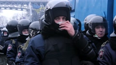 Police force in Kiev Stock Footage