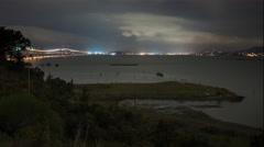 4k time lapse taken near the Richmond San Rafael bridge just before it rains Stock Footage