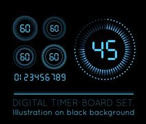Digital Countdown Timer - stock illustration