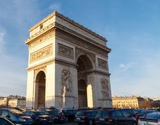 Paris. Arc de Triomphe. Stock Photos
