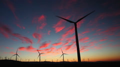 Footage - Wind Turbines at Sunrise Stock Footage