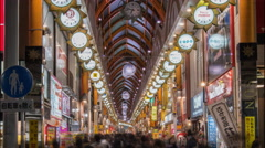 4k time lapse of frenzied new years shopping in Nakano Tokyo January 2015 Stock Footage