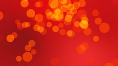 4k bokeh red and orange festive motion background, lens flares and optics style Stock Footage