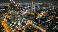 4k time lapse taken from a high vantage point in Shinjuku Tokyo Japan - stock footage