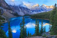 Stock Photo of Moraine Lake in Banff National Park, Alberta, Canada