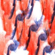 Art blue, red watercolor ink paint blob watercolour splash color Stock Illustration