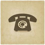 Retro phone old background Stock Illustration