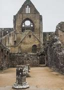 Ruins of Tintern Abbey, a former church in Wales - stock photo