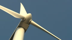 Wind turbine rotating, shot from underneath Stock Footage