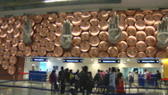 Stock Video Footage of Nine Mudras at the Indira Gandhi Airport in Delhi, India