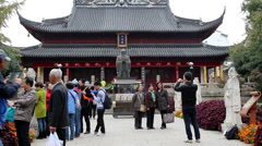 Confucius temple in Nanjing Stock Footage