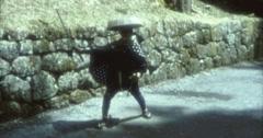 Japan Samurai Seller 70s 16mm Sword Show Stock Footage