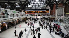 London Liverpool Street Mainline Railway Station 22 Stock Footage