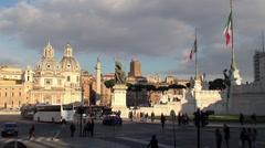 Piazza Venezia (Venice Square). Rome, Italy. Stock Footage