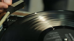Old fashioned turntable Stock Footage