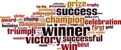 Winner word cloud Stock Illustration