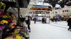 London Liverpool Street Mainline Railway Station 29 Stock Footage