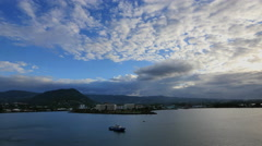 Samoa evening sky and coastline 4k Stock Footage