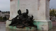 Lyon statue of Louis XIV, King of France 3 Stock Footage