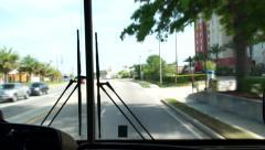 Tour Bus Hi speed Florida 2 Stock Footage
