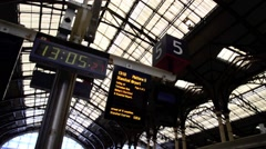 London Liverpool Street Mainline Railway Station 32 Stock Footage