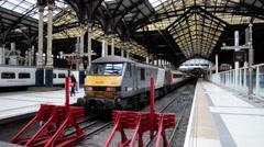 London Liverpool Street Mainline Railway Station 36 Stock Footage