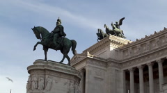 National Monument to Victor Emmanuel II ( Vittoriano ). Rome - stock footage