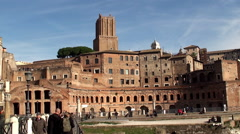 Trajan's Market at the Trajan's Forum. Rome Stock Footage