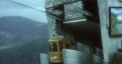 Japan Kengon Mountain Gondola Station 70s 16mm Stock Footage
