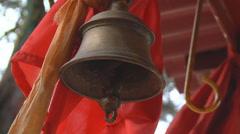 Bell at Jyotirmath in Uttarakhand, India Stock Footage