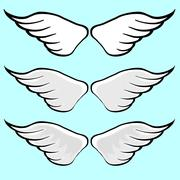 Stock Illustration of Wing Vector Cartoon