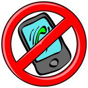 Mobile Phone Banned Stock Illustration