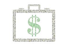 Briefcase of Money - stock illustration