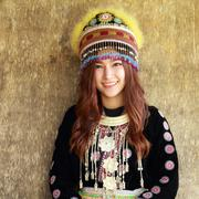 Stock Photo of Traditionally dressed Mhong hill tribe woman