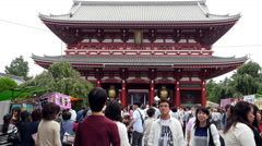 People at Sensoji Temple  -  Tokyo Japan Stock Footage