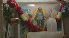 Lord Shiva in the monastery at Jyotirmath in Uttarakhand, India Stock Footage