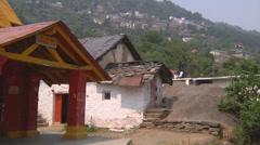 Devi Temple at Jyotirmath in Uttarakhand, India Stock Footage