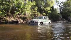 4WD driving through water - stock footage