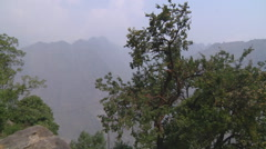 Mountains and city at Jyotirmath in Uttarakhand, India Stock Footage