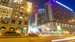4k hyperlapse video of buildings in Tsim Sha Tsui area in Hong Kong Stock Footage