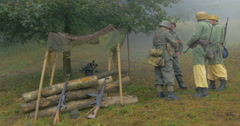 German soldier fox hole 12 Stock Footage