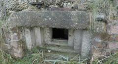 WW2 pill box in sand dunes by Norfolk beach at Waxham Stock Footage