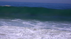 A large storm in Southern California causes a huge swell and crashing surf. Stock Footage