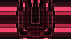 Red Domino Strobe Squares Opening Windows Background Vj Loop - stock footage