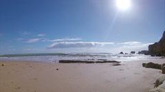 Algarve - St Eulalia Beach Pan Timelapse E Stock Footage