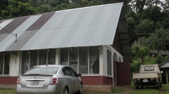 Local Church Building on the Micronesian island of Pohnpei Stock Footage