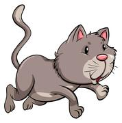 Stock Illustration of A gray cat