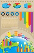 An infochart of the environment - stock illustration