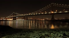 urban city skyline panorama view. cityscape night lights background - stock footage